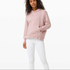 Lululemon LA Back in Action Terry Knit Hoodie Mink Berry Pink, size 6